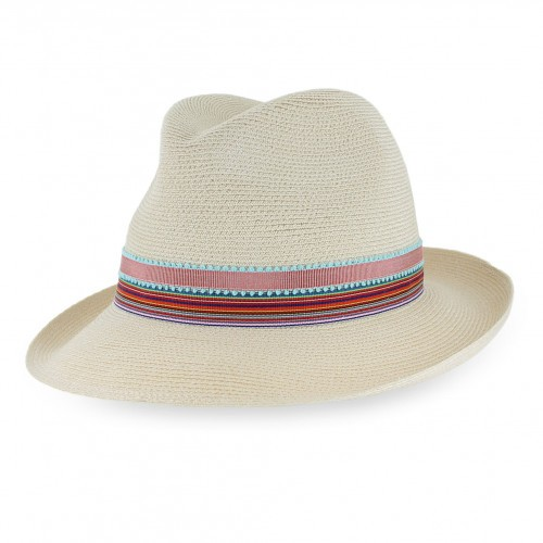 Grevi Natural Straw Fedora Hat