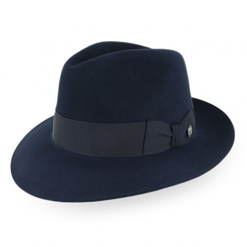 "Stetson Handmade for Belfry - ""True Blue"" Fur Felt Fedora Hat"