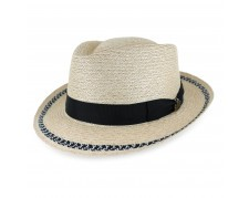 Biltmore Handmade for Belfry Jayson Hemp Braid Stingy Brim Fedora