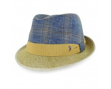 Belfry Topher Italian Made Linen Cotton Stingy Brim Fedora