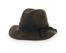 Broner Prairie - Adjustable Brown Wool Dress Fedora