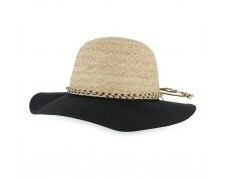 Callanan Ellie Raffia Cotton Wide Brim Hat