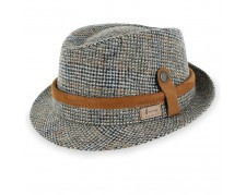 Herman Defender 2 - Italian Made Plaid Fedora Hat