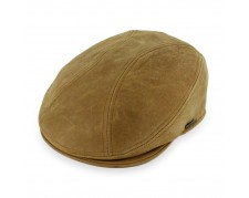 Stetson Leather Flat Cap